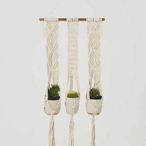 Leon Natural White Plant Holder Made in Nicaragua