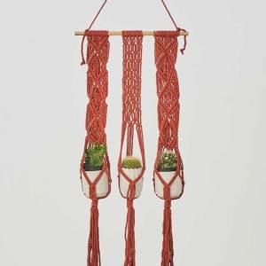 Leon Plant Hanger Tile Red Made in Nicaragua