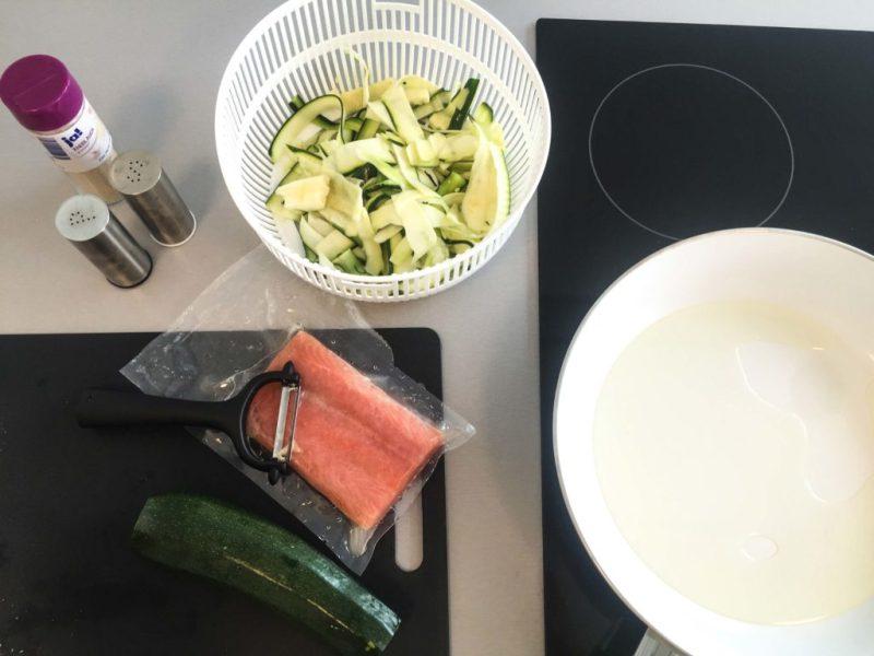 Zucchini Bandnudeln