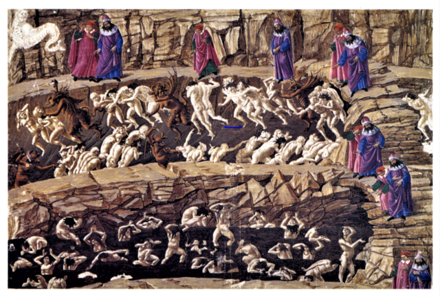 Botticelli Map of Hell - Explore Dante's Inferno Drawings