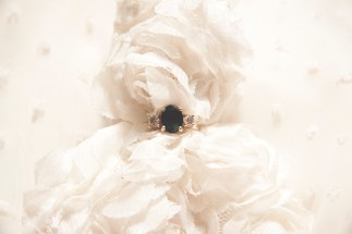 One year momento. I photographed my ring with my dress. xo