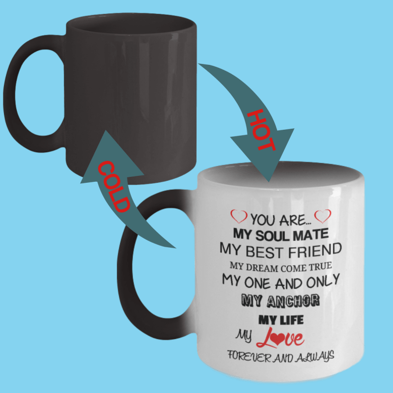 I Love You Forever Color Changing Mug