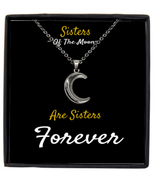 Moon Sisterhood Pendant, Wicca Necklace, Witchcraft Gift With A Message Card