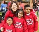 "The shirts say ""Jesus love this kid"""
