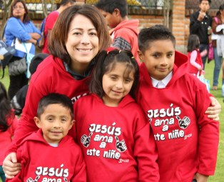 "The shirts say ""Jesus love this kid"""