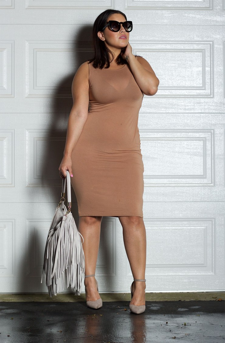 Boohoo Lindsay Sleeveless Midi Dress