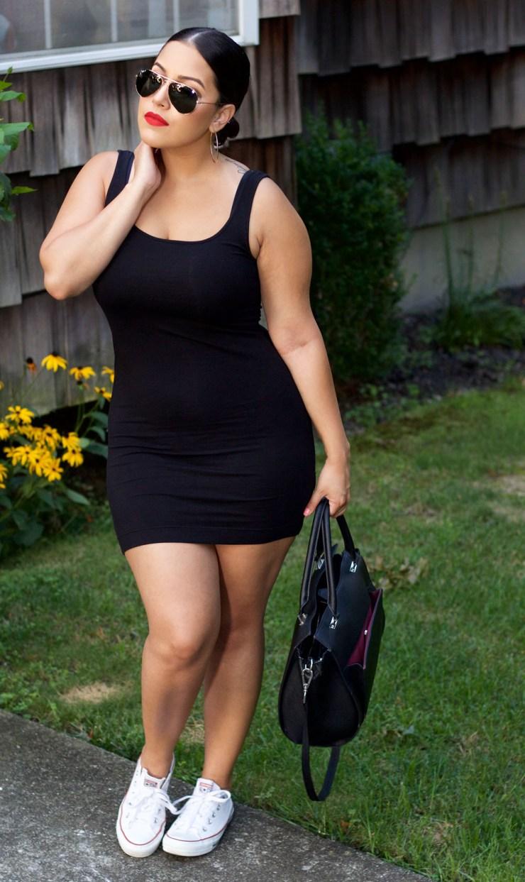 H&M Black Basic Tank Dress