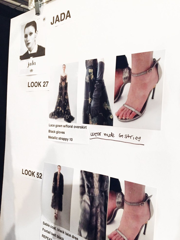 Backstage Look at Dennis Basso NYFW