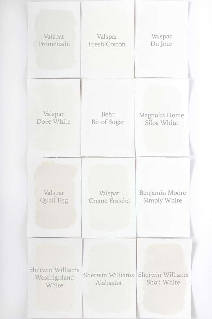 White Paint Color Names