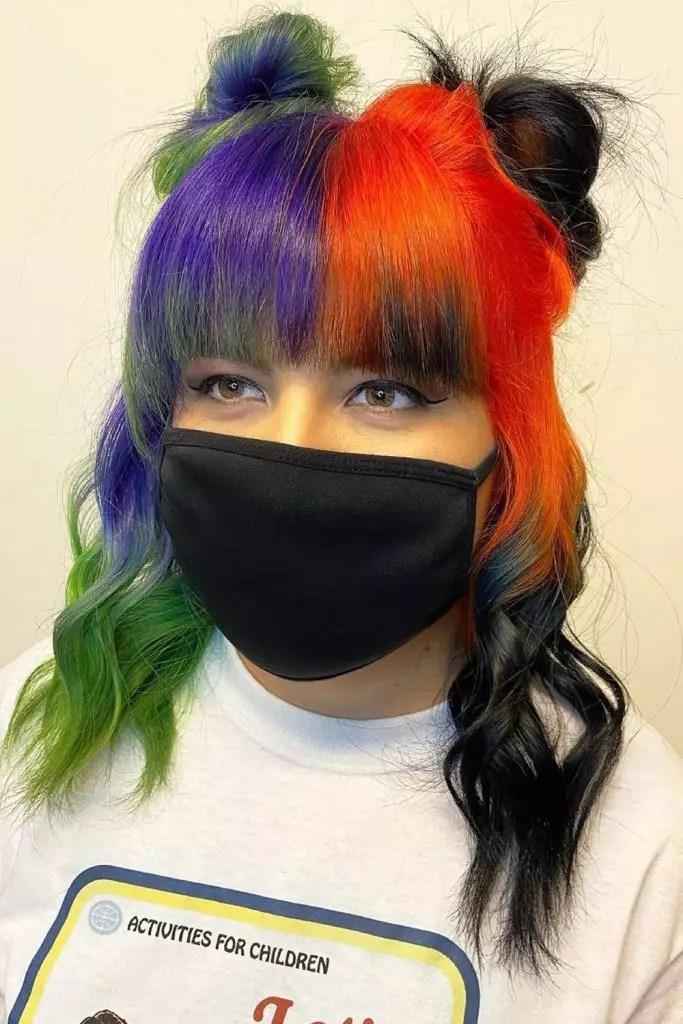 E- Girl Two Shades Hair Space Buns