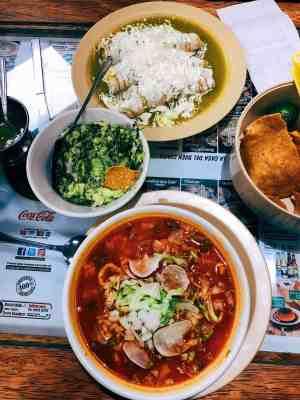 Pazole soup at Casa de Tono