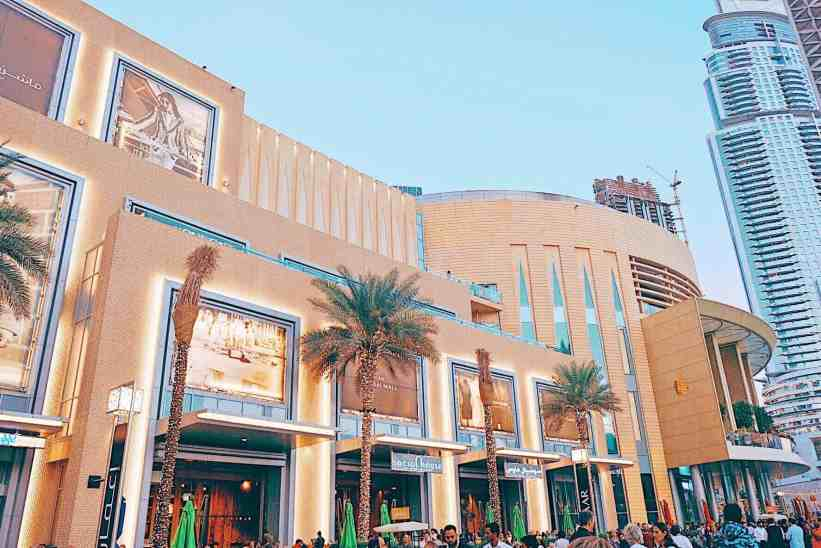 Dubai mall, one of the top things to do in Dubai.
