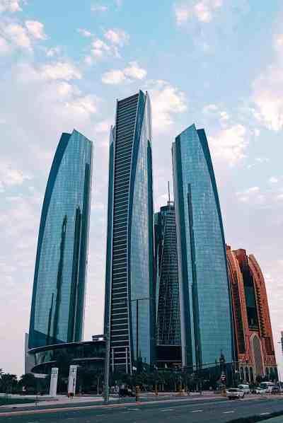 Beautiful Abu Dhabi skyline