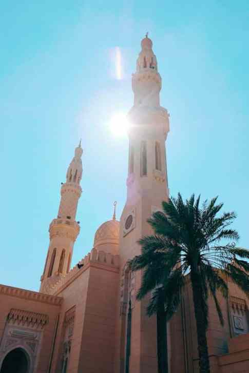 Jumeirah Mosque, one of the top things to do in Dubai.