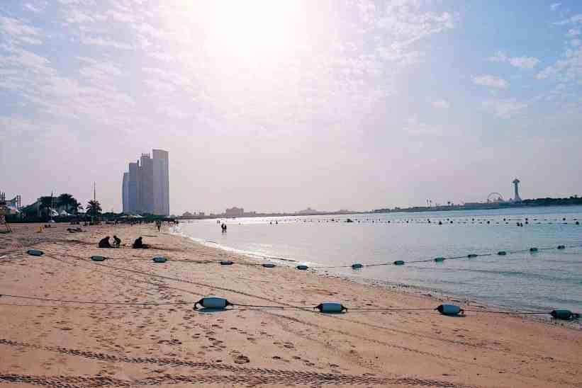 Cornish beach in Abu Dhabi