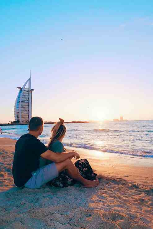Jumeirah beach sunset, one of the top things to do in Dubai.
