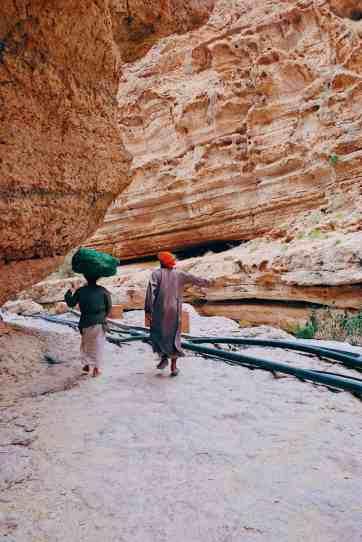 Omani people at Wadi Shab