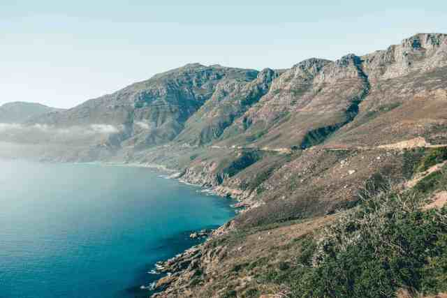 Chapman's Peak drive mountain views, one of the top things to do in Cape Town