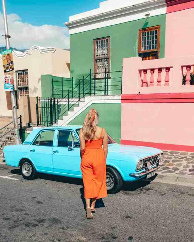 Blue car in Bo Kaap