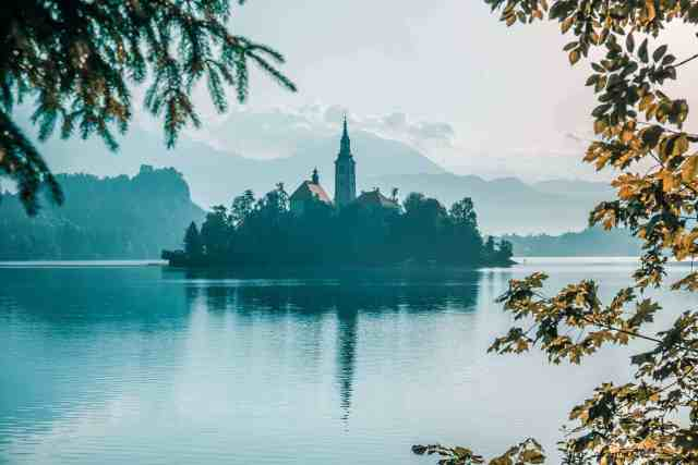 Bled Island from a distance