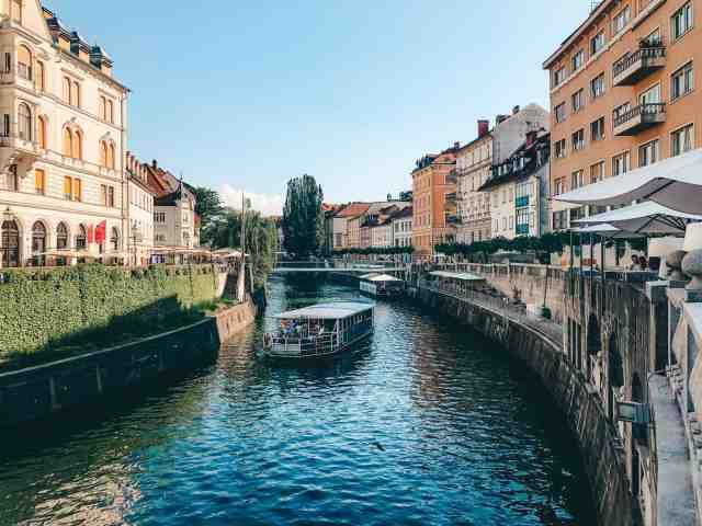 Riverfront in Ljubljana