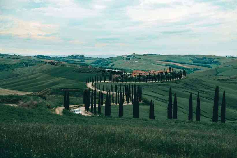 Gorgeous green rolling hills of Tuscany