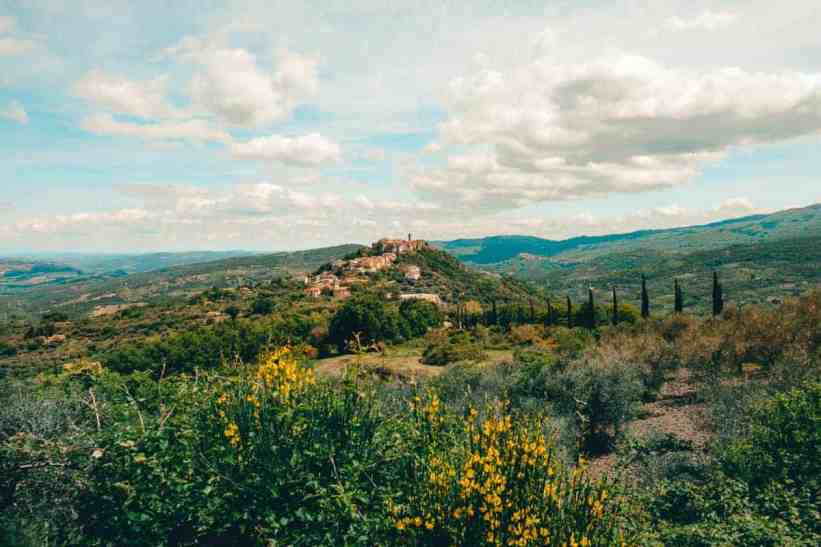 Quaint hilltop town in Tuscany on a day trip from Florence