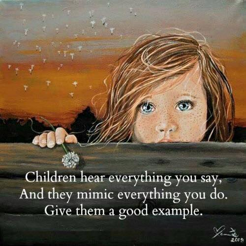 Image result for Children Learn By Example