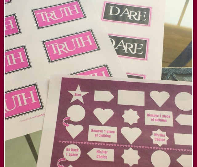 Diy Couples Bedroom Game Printables Truth Or Dare Game And Boardgame Free Printable