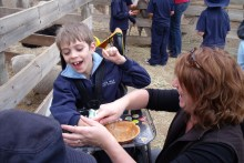 Mason at school aged 8