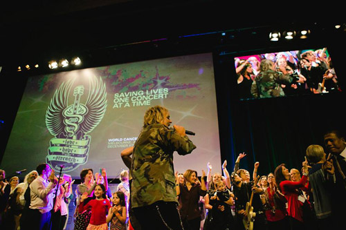 Love Hope Strength Rocks the 2014 World Cancer Congress