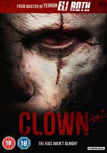 Clown dvd cover roth horror movie