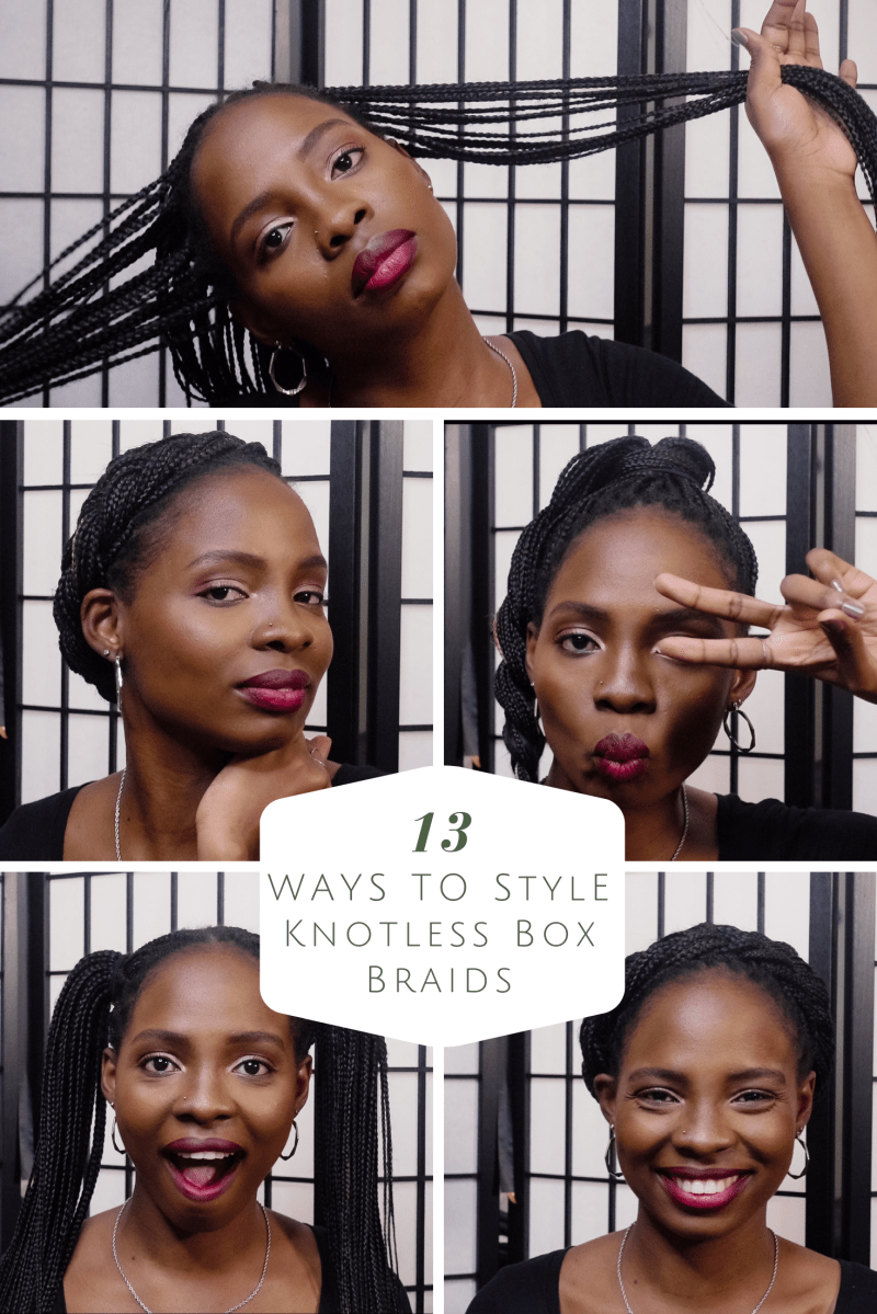 Styling Knotless Box Braids | 13 Quick and Easy Ways