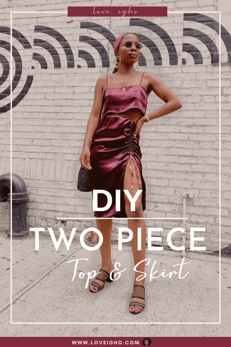 How to make a TWO PIECE from an old dress | Clothing Transformation