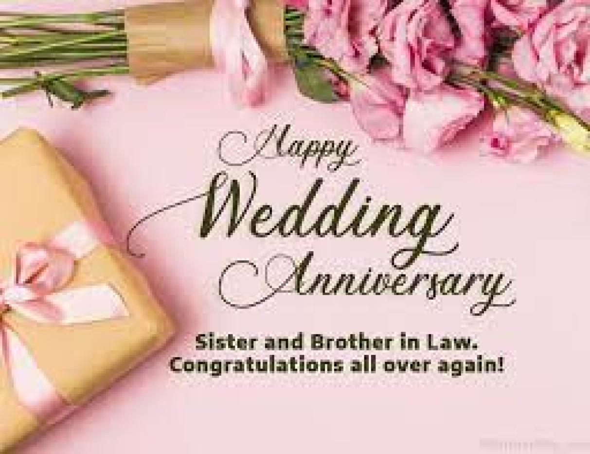 Anniversary Quotes For Sister And Brother In Law