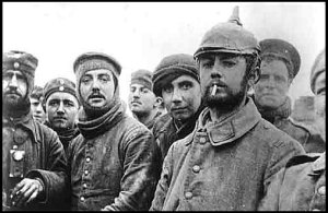 Soldiers from several countries during the Christmas Truce of 1914