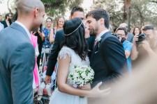 groom kisses the bride