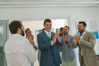 groom preparation from a wedding in sifnos
