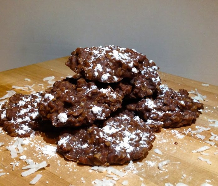 Day 16 – NO BAKE Chocolate, Oat, and Peanut Butter Cookies