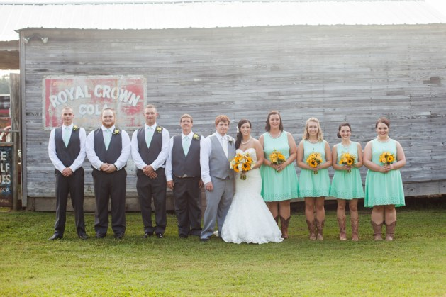 wedding-party-mint-and-yellow