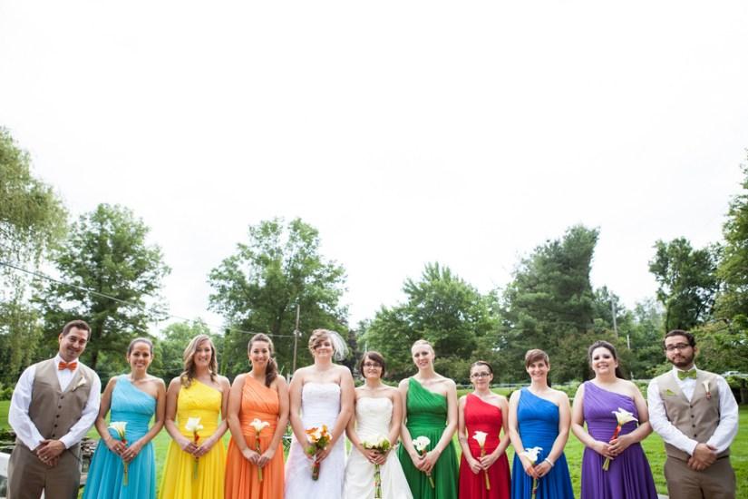 rainbow-bridal-party
