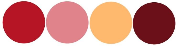 Valentine's Day-Inspired Wedding Color Palette