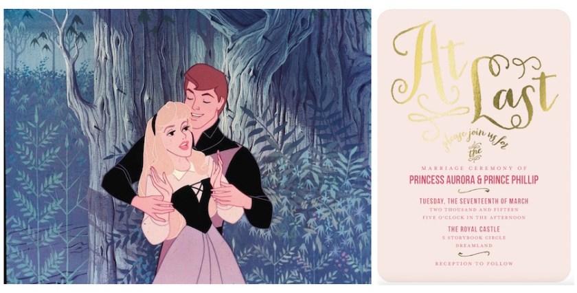 Disney Princess Wedding Invitations Aurora