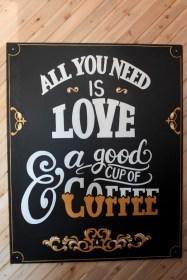 Coffee-themed Wedding Signage