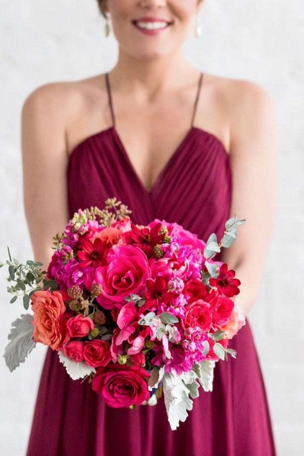 fuschia-bridesmaid-dress