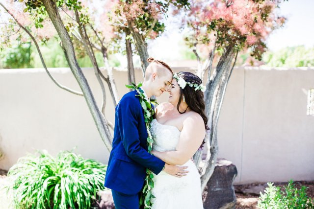 pili and sienna's sunny and chic albuquerque wedding - love