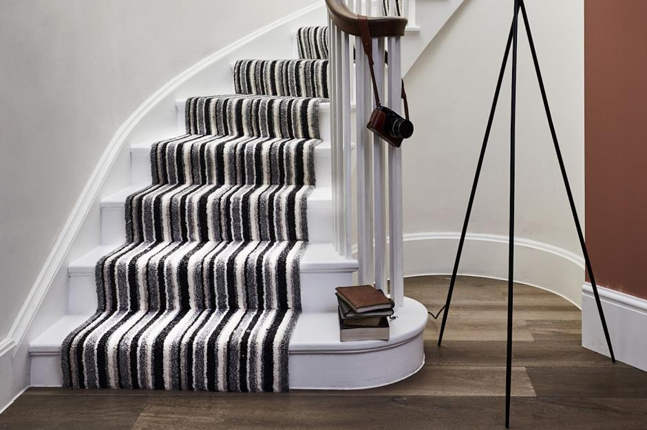 Stylish Staircase Ideas To Suit Every Space Loveproperty Com | Spiral Staircase Carpet Runners | Staircase Ideas | Staircase Railings | Stair Case | Beige Carpet | Sisal Stair