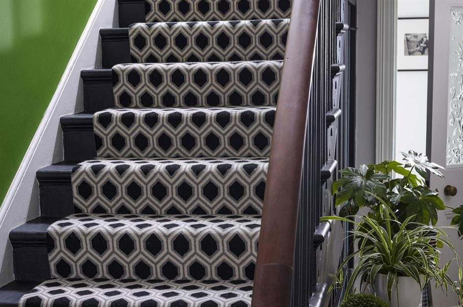 Stylish Staircase Ideas To Suit Every Space Loveproperty Com | Black And White Stair Runners | Staircase | Hallway | Cool | Diy | Jute
