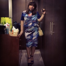 MIlky, Milky, Milky Way/ Shirt & Midi Skirt from SM Woman/ Charles & Keith Bag/ Make-up Forever Lipstick