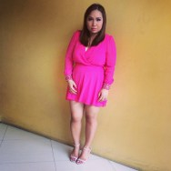 Miss Selfridge/ Chiffon Pink Plasuit from Miss Selfridge/ Barely There Sandals from Payless/ Make-up by Christine Galope